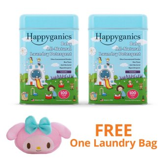 Harga Happyganics Baby All-Natural Laundry Detergent 1.5kg (Lavender x 2) and FREE My Melody Laundry Bag