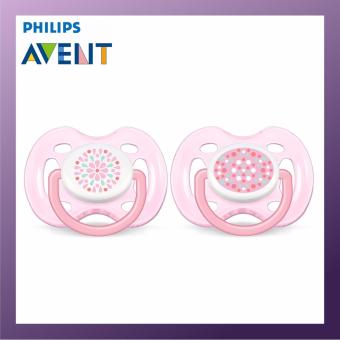 Harga PHILIPS AVENT Freeflow Soother-0-6M Twin Pack Pink