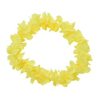 Harga Hawaiian Leis Fake Silk Flower Leis 9 Colors Fancy Dress Garland for Party Yellow - intl