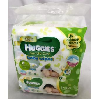 Harga HUG GENTLE CARE BABY WIPES VALUE PACK -80'Sx3