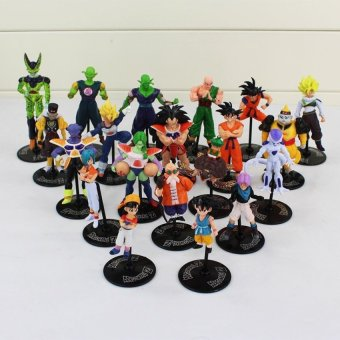 Harga 20pcs/set Dragon Ball Z GT Action Figures Crazy Party 10CMCell/Freeza/Goku PVC Dragonball Figures Best Gift - intl