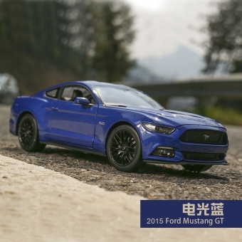 Harga Welly1: 24 original simulation car models 2015 New style Ford Mustang car model ornaments collection car models