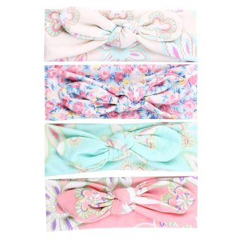 Cocotina 4 PCS Kids Girls Baby Headband Toddler Bow Flower Hair Band Accessories Headwear
