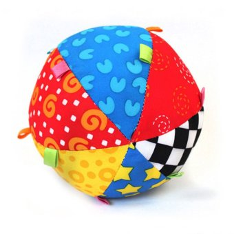 Harga Colorful Ring Bell Ball Baby Toy Ball Educational Cotton Baby Hand Grasp Ball Cloth Music Sense Ball