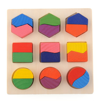 Harga Wood Geometry Block Puzzle Early Learning Educational Preschool Toy Kids