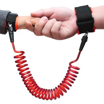 Harga Baby Child Anti Lost Wrist Link Safety Velcro Wrist Link 250cm - intl