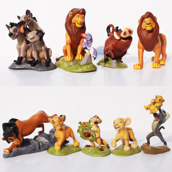 Harga 9pcs/Set The Lion King Simba Nala Timon Model Figure PVC Action Figures Classic Toys Best Christmas Gifts