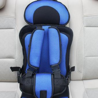 Harga Portable Baby Safety Seat Carseat Children's Chairs in the Car Thickening Sponge Kids Car Seats Blue