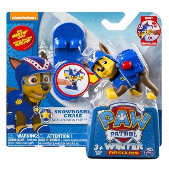 Harga Paw Patrol - Winter Rescues Action Pack Pup, Snowboard Chase