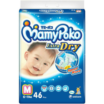 Harga MamyPoko Tape Diapers M 46pcs