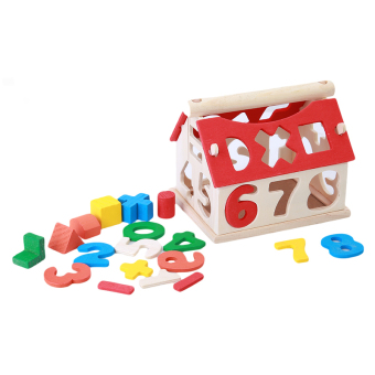 Harga HengSong Baby Wooden Number House Early Learning Toys Multicolor