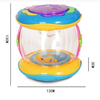 New Funny Educational Music Toys for Baby Kid Drum Play Colorful Toy Drums - intl