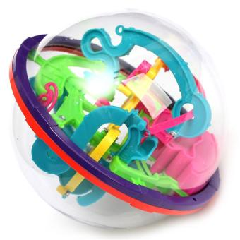 Harga 3D Magical Intellect Maze Ball Kids Amazing Balance Logic Ability Toys Learning & Educational IQ Trainer Game For Children