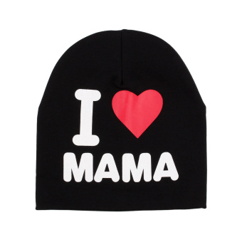 Harga Cotton Soft Cute Toddler Kids Baby Infant Warm Hat Cap New (I Love Mom Black)