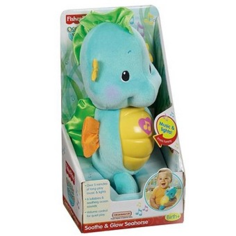 Harga Fisher-Price Soothe & Glow Seahorse (Blue) - intl