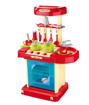 Xiong Cheng 008-58A Prince Kitchen Play Set Red