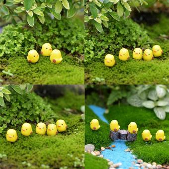 Harga 50pcs Kawaii Mini Yellow Chicken Bird Animals Micro Fairy Garden Decoration Succulents Ornaments Toys Miniature Diy Accessories - intl