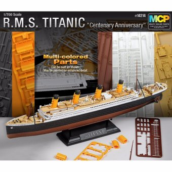 Harga ACADEMY 1/700 R.M.S.TITANIC Multi Colored Parts MODEL KIT 14214 - intl