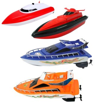 Kids Remote Control RC Super Mini Speed Boat High Performance Boat Toy (Export)
