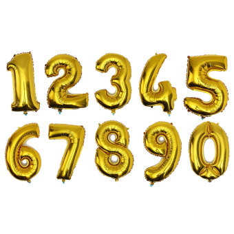 Harga Giant 40inch Number 3 Mylar Balloon Gold