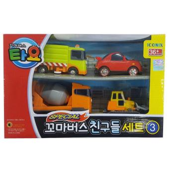 Harga The Little Bus TAYO ICONIX Special Mini FRIENDS Set No.3 (Ruby+Speed+Chris+Billy) - intl