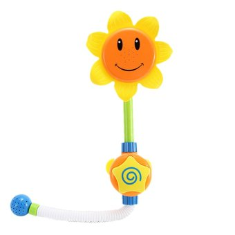 Harga Baby Sunflower Shower Faucet Bath Learning Toy