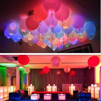 Harga 10PCS LED Balloons 12 Inches Latex Multicolor Lights Helium Balloons Christmas Hollween Decor Wedding Birthday Party Supplies - intl