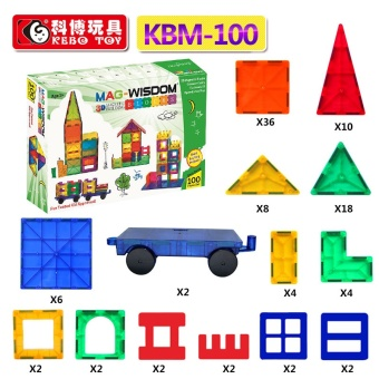 Harga Cobo magnetic piece building blocks variety mention pull magnet magnetic building blocks kbm 3-6-8-Year-Old Children's Educational toys