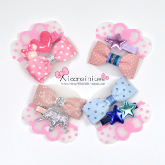 Harga The whole shop full 38 shipping export temperament hairpin children's hair accessories baby hair jewelry korean version of the two piece set
