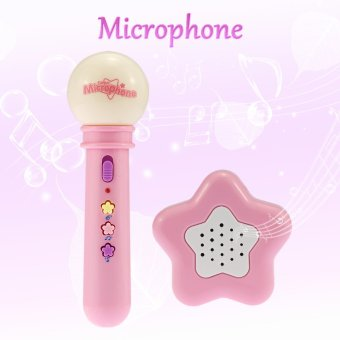 Harga Baby Kids Children Musical Microphone Pink - intl