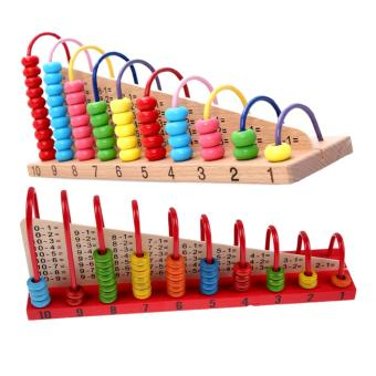 Kids Wooden Toys Child Abacus Counting Beads Maths Learning Educational Toy