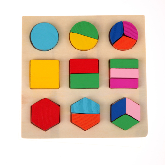 Harga Wooden Fraction Shape Puzzle Toy For Montessori Early Learning A54