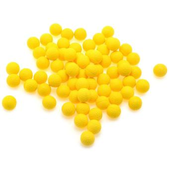 Harga 100Pcs Yellow Pu Foam Compatible Bullet Ball(Luminous Yellow) - intl