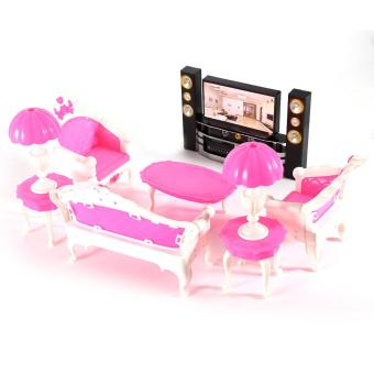 Harga MOON STORE Bobbi doll house toy TV + home theater, - intl