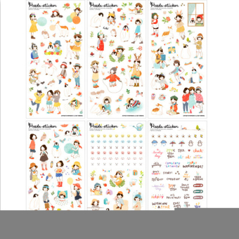 Harga Jetting Buy Kawaii Sticker For Notebook Paper Decor 6Sheets