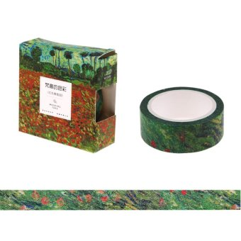 Harga Art Painting Paper Washi Tapes Masking Tape Decorative Adhesive Tapes DIY Cards - intl