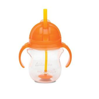 Harga Munchkin Click Lock Weighted Flexi Straw Cup 7oz, Orange