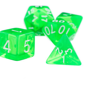 Harga BolehDeals 7Pcs Green D4 D6 D8 D10 D12 D20 Dice Set For Dungeons and Dragons Game (Intl) - intl