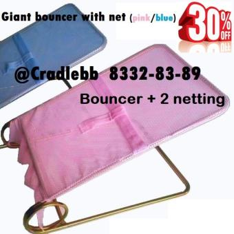 Harga Giant bouncer (2 x netting, pink/blue)