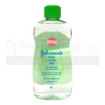 Harga Johnsons Baby Oil - Aloe Vera with Vitamin E 500ml x 2 Bottles - 5869