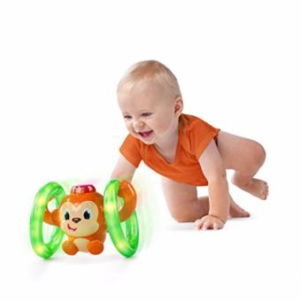 Harga Bright Starts Baby Light Roll and Glow Monkey