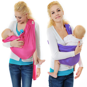 Harga Xcellent Global 2 Pack Baby Wrap Sling Carrier Pink + Purple - 100% Polyester