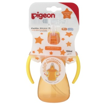 Harga Pigeon Petite Straw Bottle (Orange)