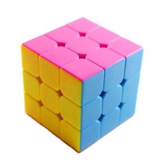Harga Stickerless Yulong Plus 3x3x3 Speed Cube Puzzle, Small, High Bright Pink - intl