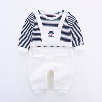 de48d8332d04 Baby Siamese clothes male baby newborn children romper 0 spring and summer  3 a month cotton