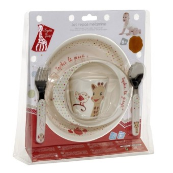 Harga Vulli VU460006 Sophie the Giraffe Melamine meal-time Set