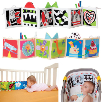 Harga Double Sided Baby Cloth Book Crib Books Clip On Pram Cot Lear Baby Toys Mobiles Toy Readings Cloth Books-style 2