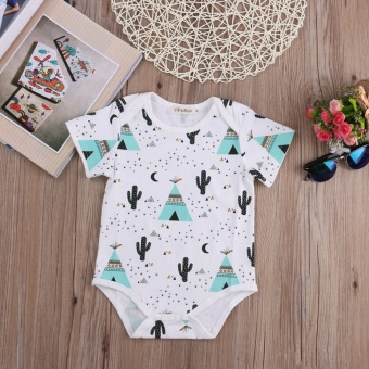 Cute Newborn Baby Boys Girls Cotton Bodysuit Romper Jumpsuit Outfits Clothes(green) - intl