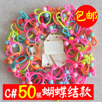 Harga Korean version of the female child tousheng baby small rubber band hair ring headwear hair rope hair tie head does not hurt the hair rubber band accessories