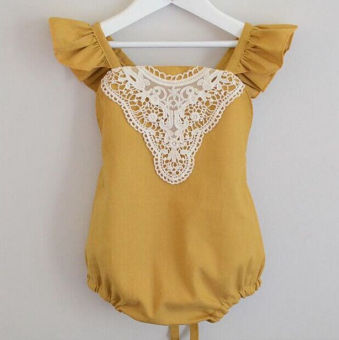 Newborn Baby Girl Romper Bodysuit Jumpsuit Lace Backless Sunsuit Outfits Clothes
